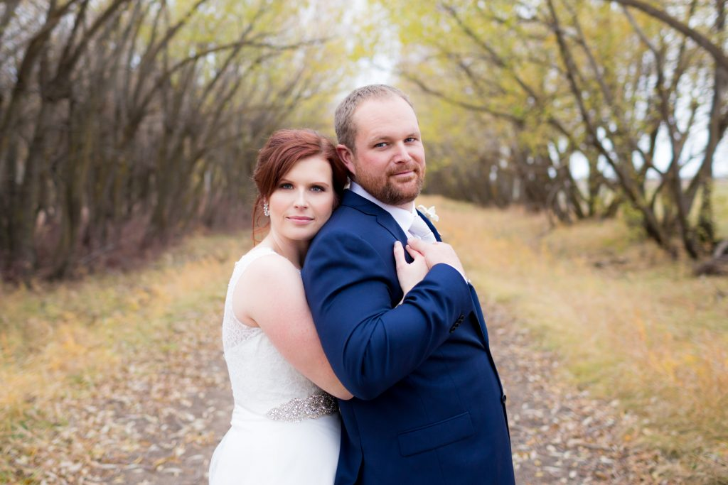 autumn wedding portrait photography near Mosaic Centre