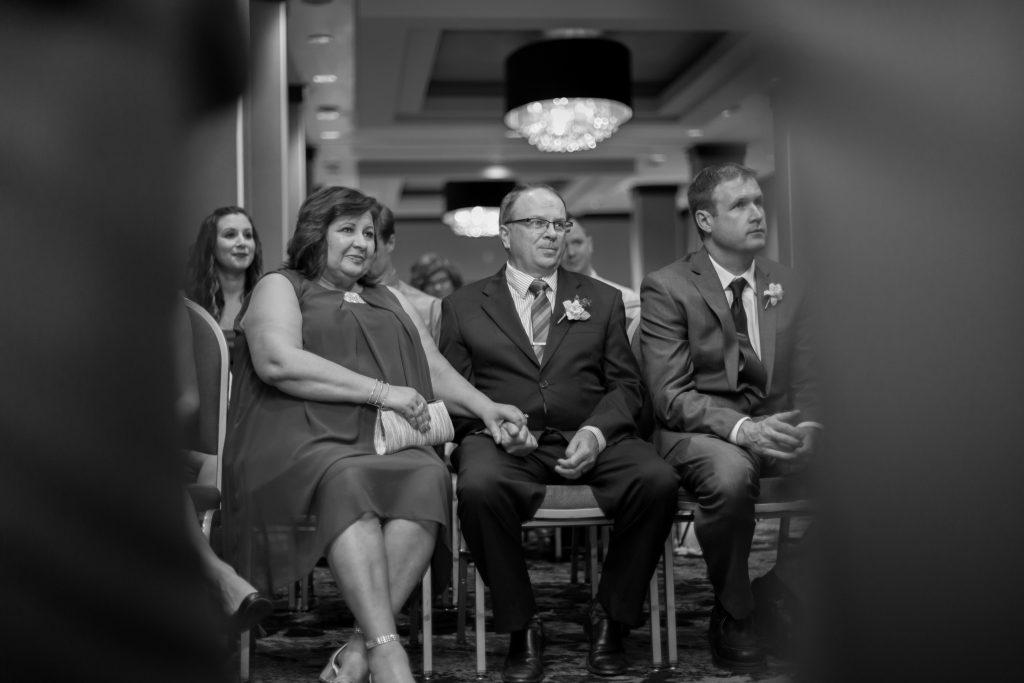 Delta Edmonton South Hotel wedding ceremony photos