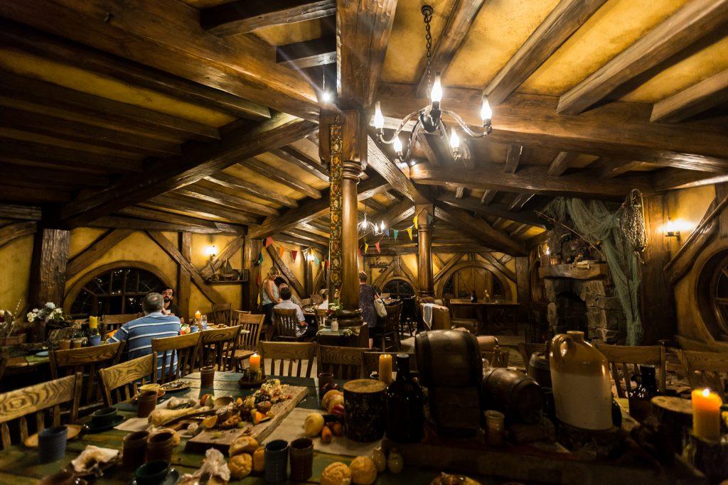Inside The Green Dragon Inn Hobbiton