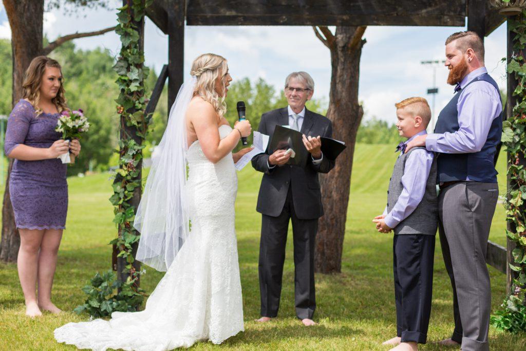 Outdoor summer wedding in Edmonton
