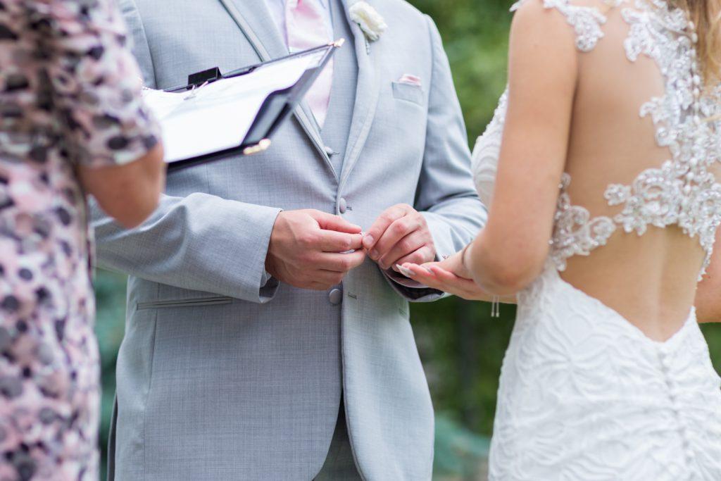 Wedding ring exchange