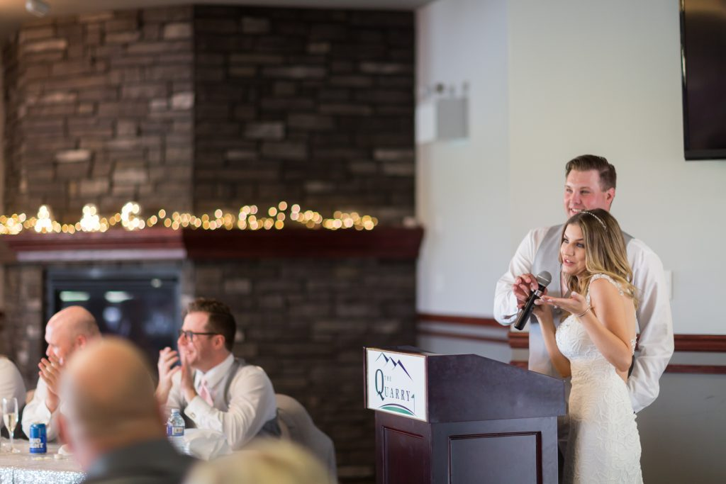 bride and groom speech to guests