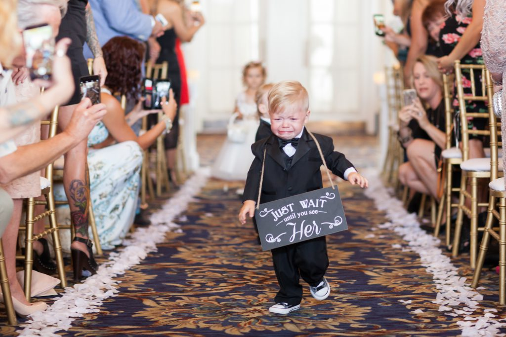 Ring bearer crying during ceremony