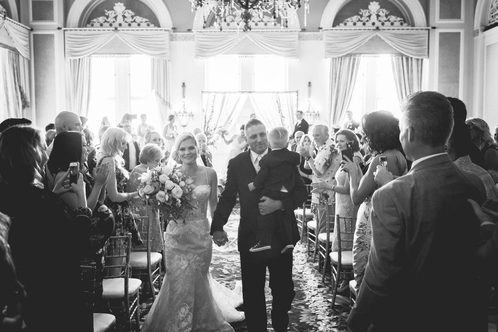 Wedding recessional photo