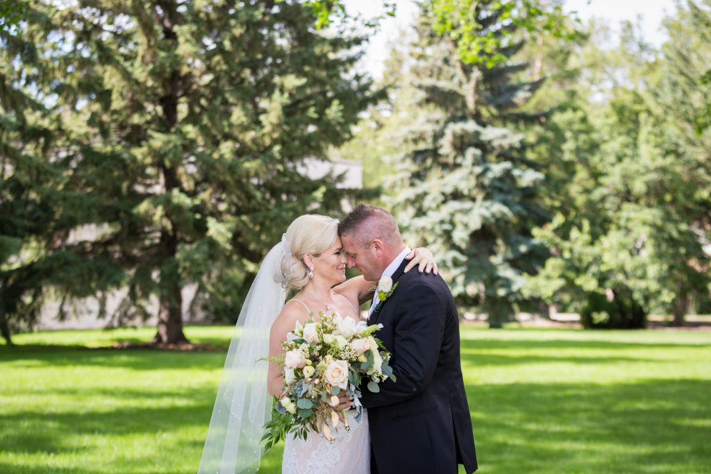 Park wedding portraits in downtown Edmonton