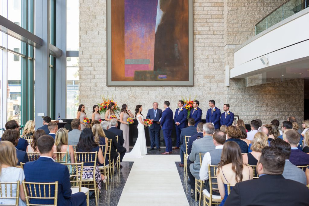 Romantic wedding at Winspear Theatre