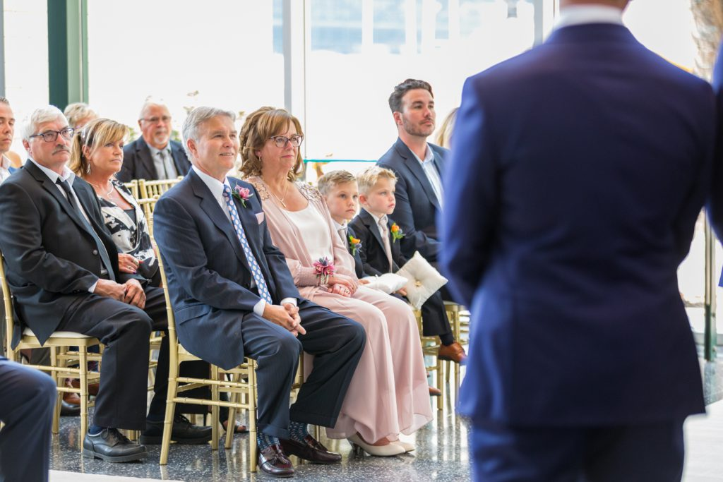 Parents watching ceremony