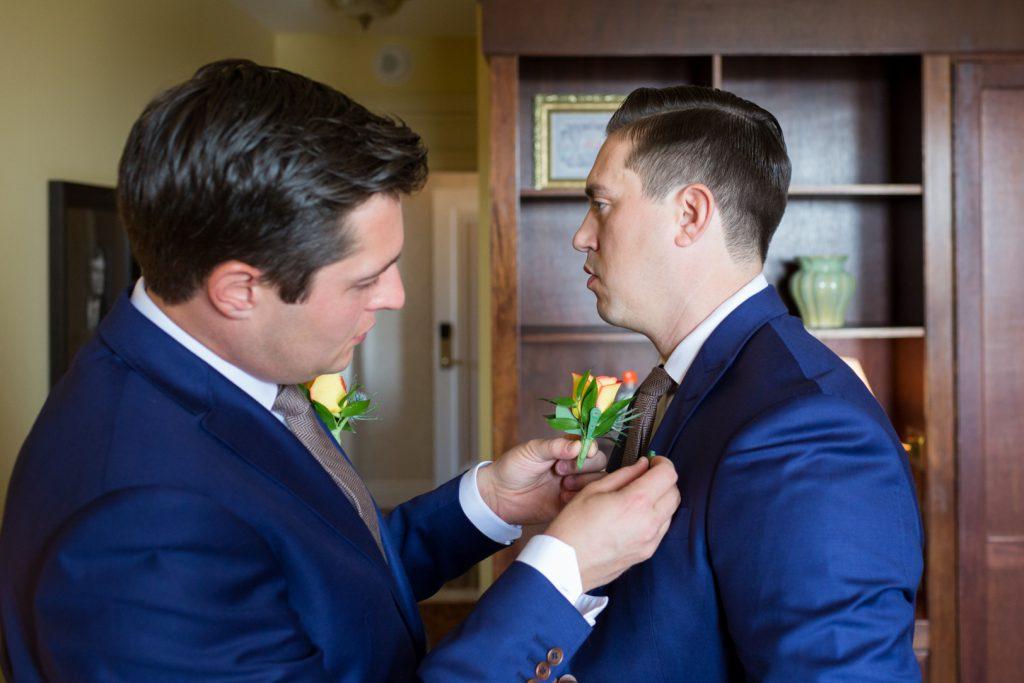 Navy blue wedding suits