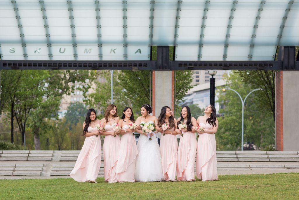 bridesmaids wedding photos