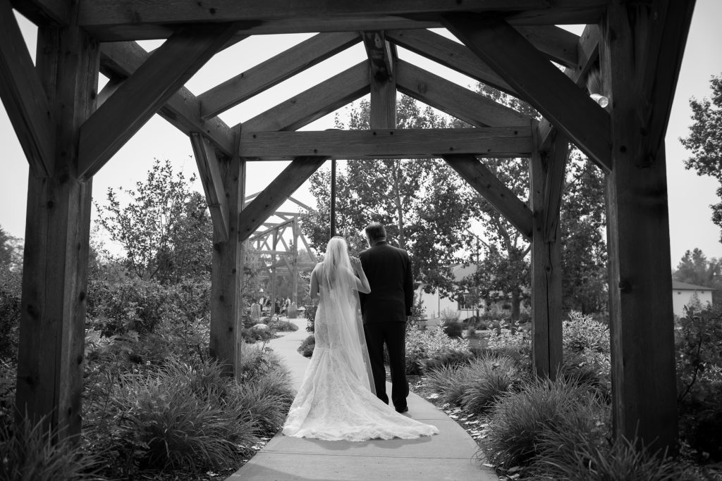 Leduc stone barn wedding ceremony