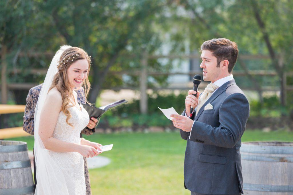 Grooms wedding vows