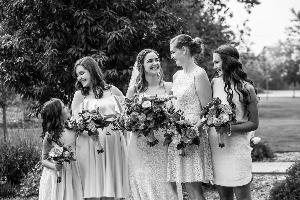 bridesmaids formal portrait