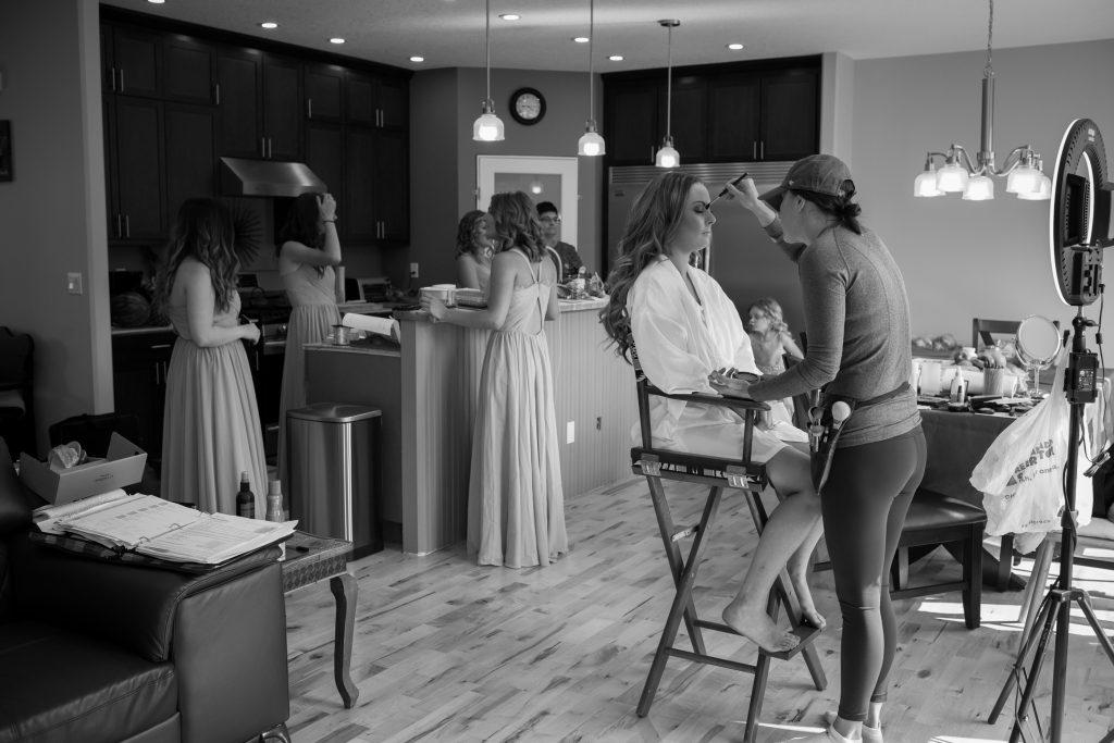 bridal makeup getting ready photos
