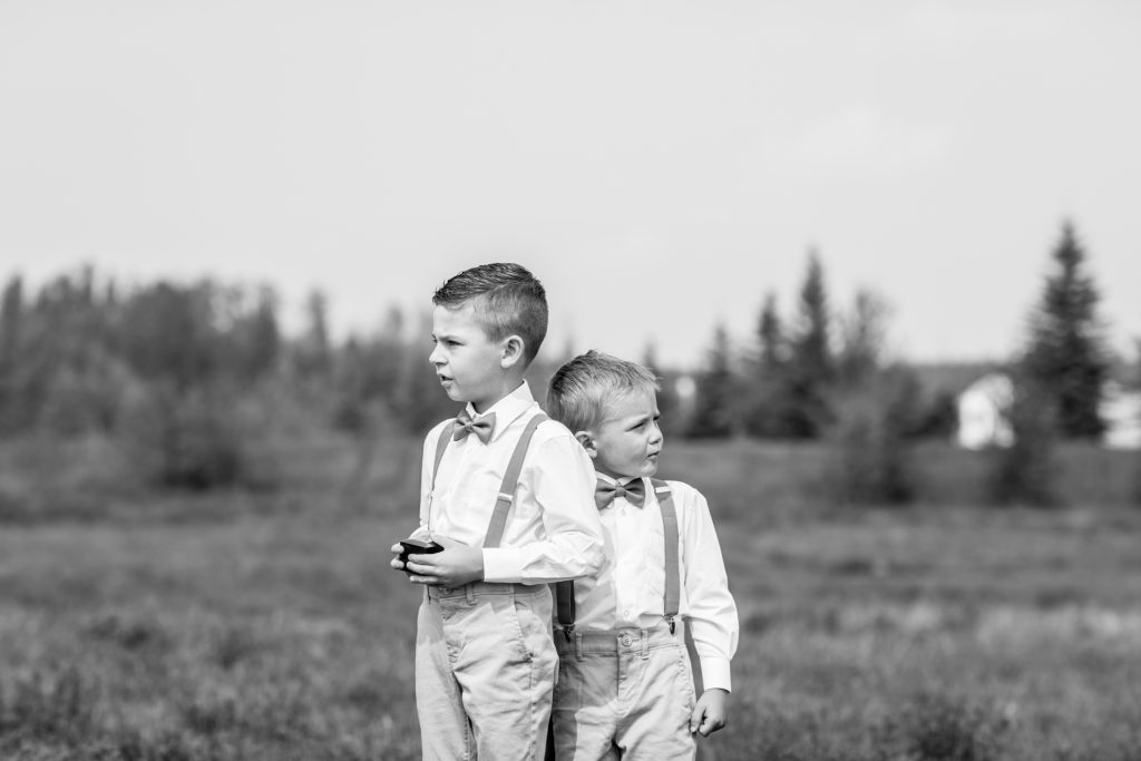 ring bearers for country wedding