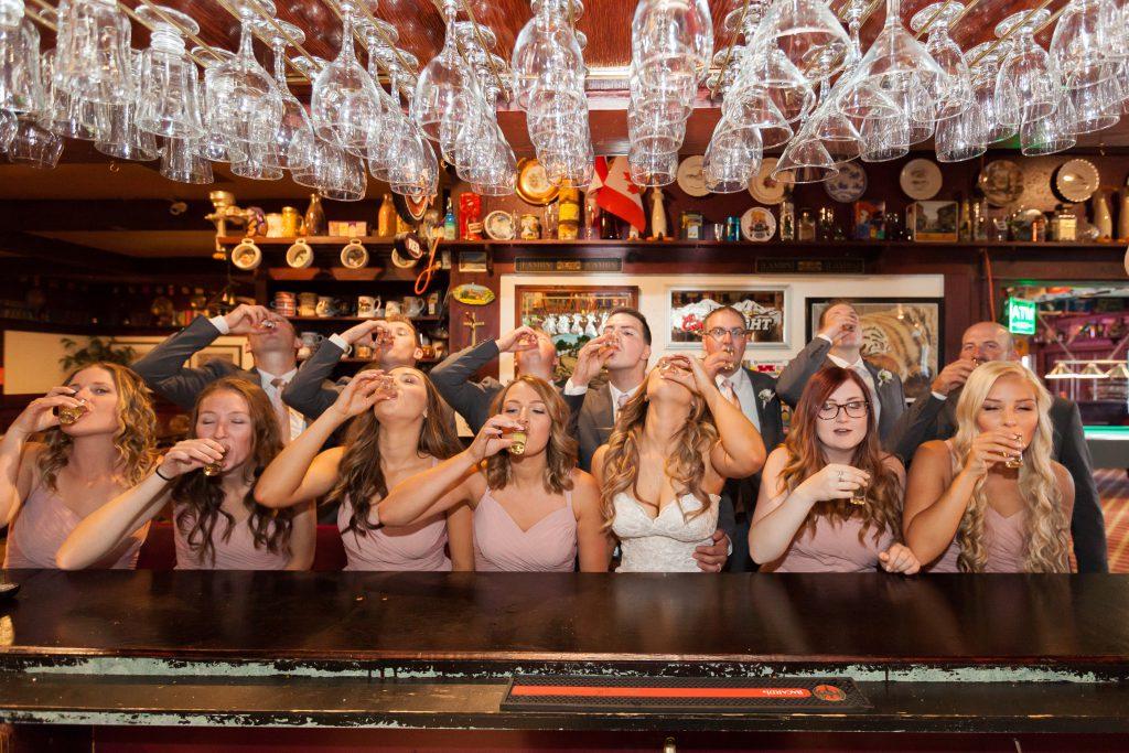 whitecourt wedding photos in a pub