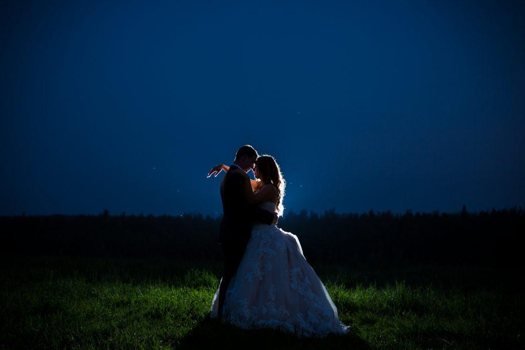 night wedding portraits