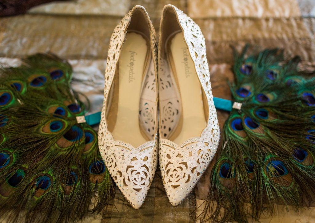 Peacock wedding fan