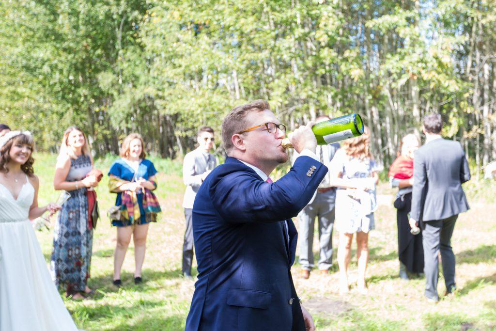 fun wedding champagne toast