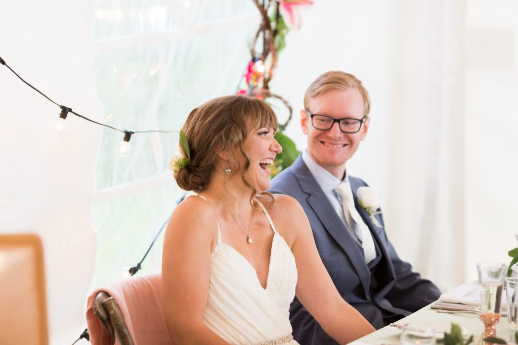 candid wedding reception photos