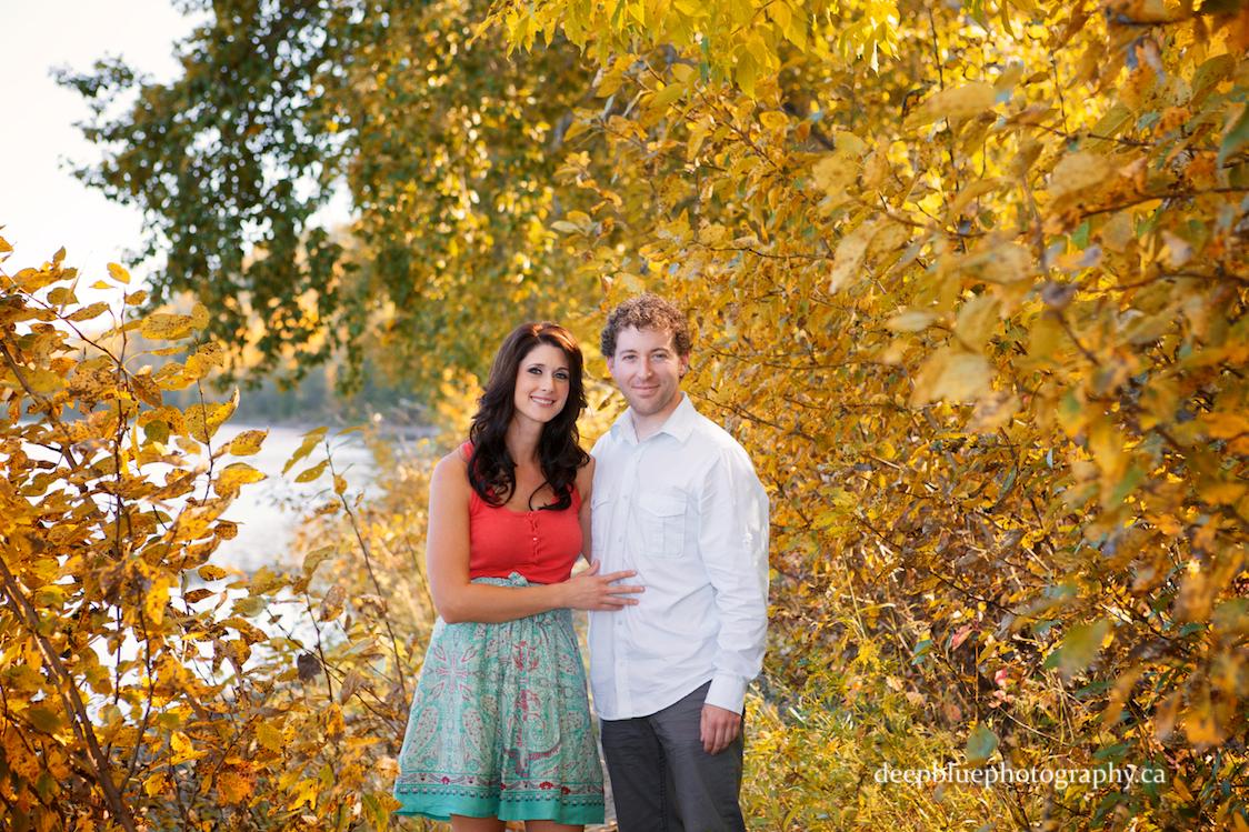Autumn engagement photos in Edmonton's River Valley Emily Murphy Park