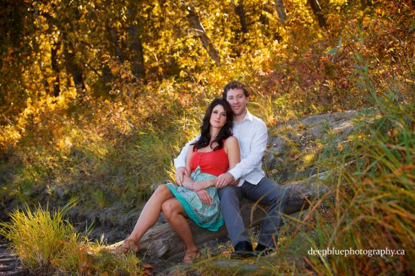 Edmonton River Valley Engagement Pictures – Gareth & Wendy