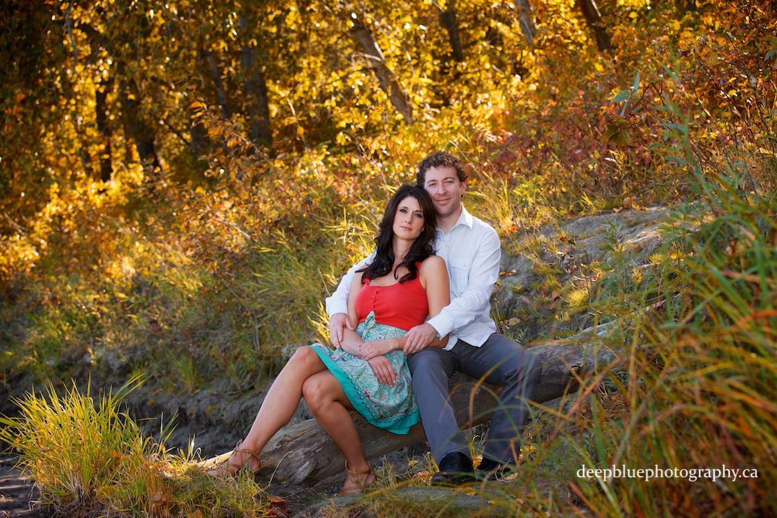 Edmonton River Valley Engagement Pictures - Romantic Couple's Portrait at Emily Murphy Park