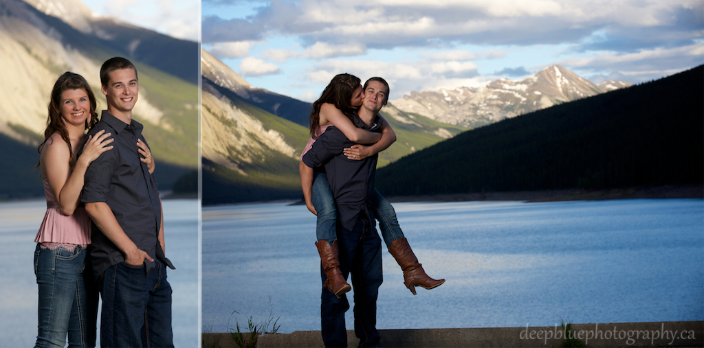 Sunset Lake Engagement with Alannah and Roland