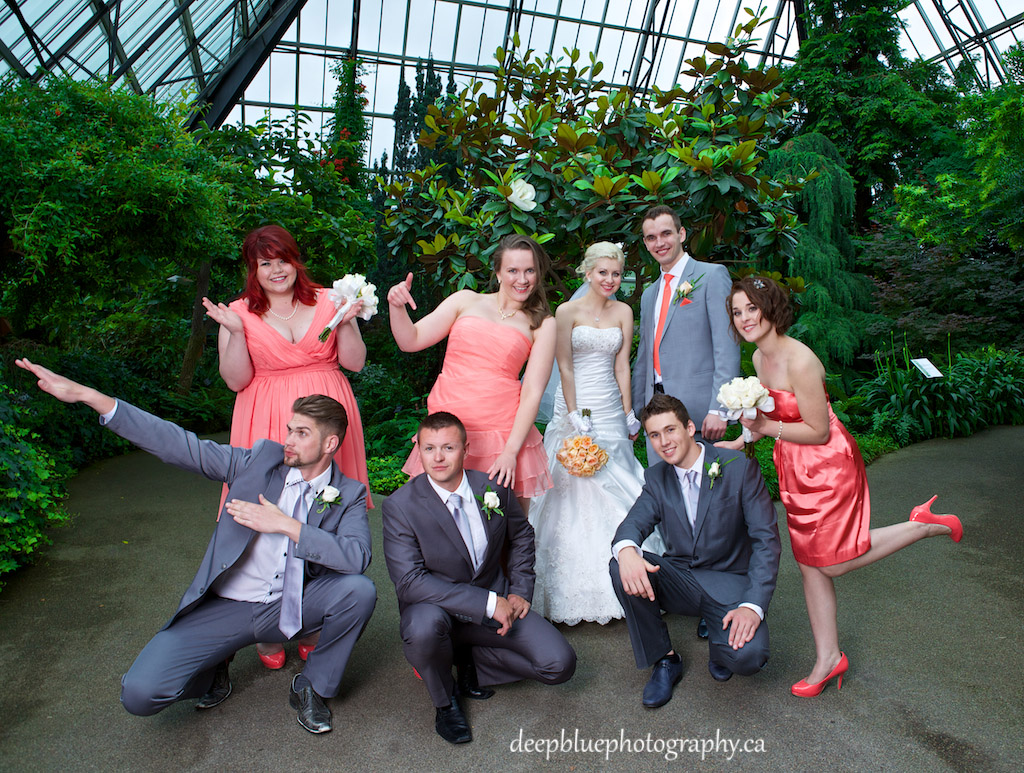 Viktoriya and Nick with Their Awesome Wedding Party
