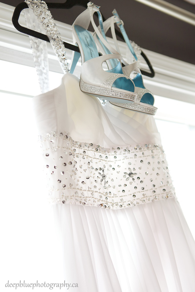 Photo of Bridal Gown and Shoes