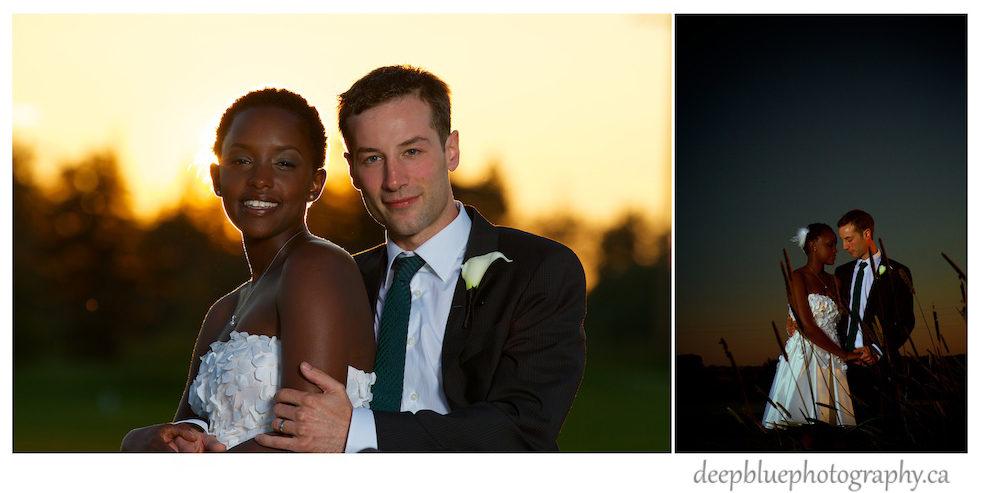 Dustin and Gaju Sunset Wedding Portraits