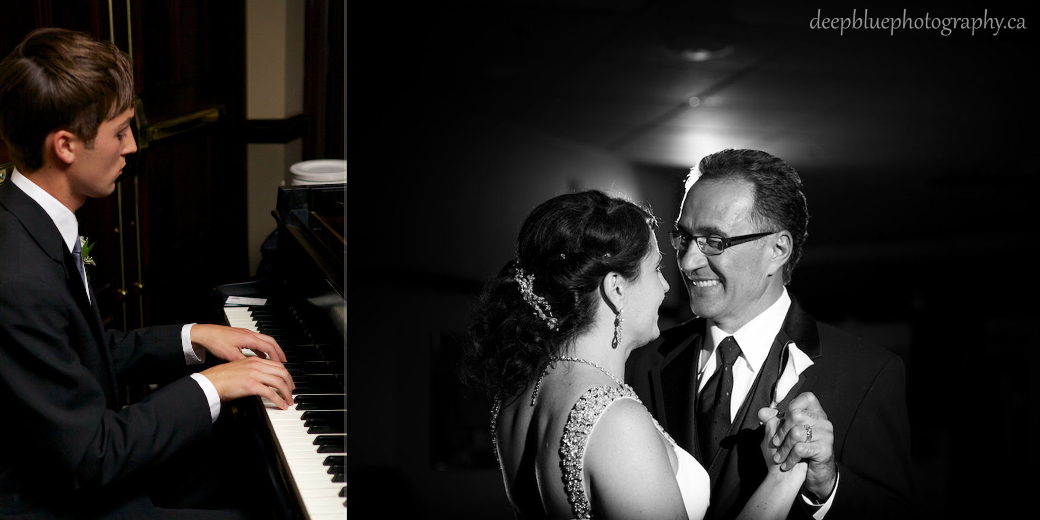 Photo of the Bride and Groom Sharing Their First Dance At Their Edmonton Golf And Country Club Wedding