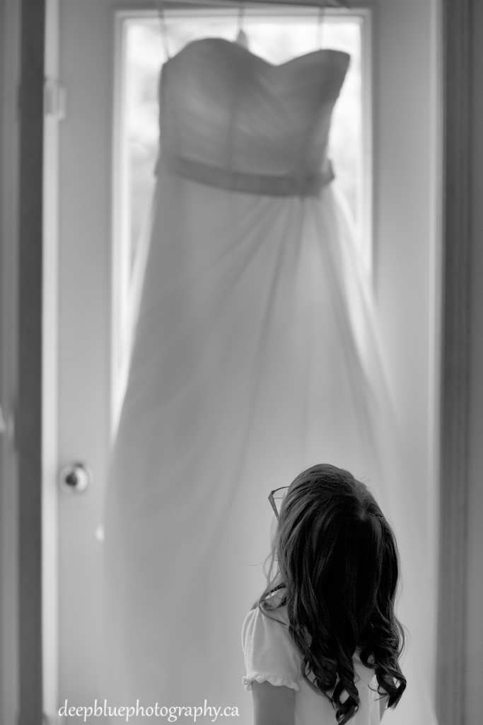 Photo of Flowergirl and Wedding Dress