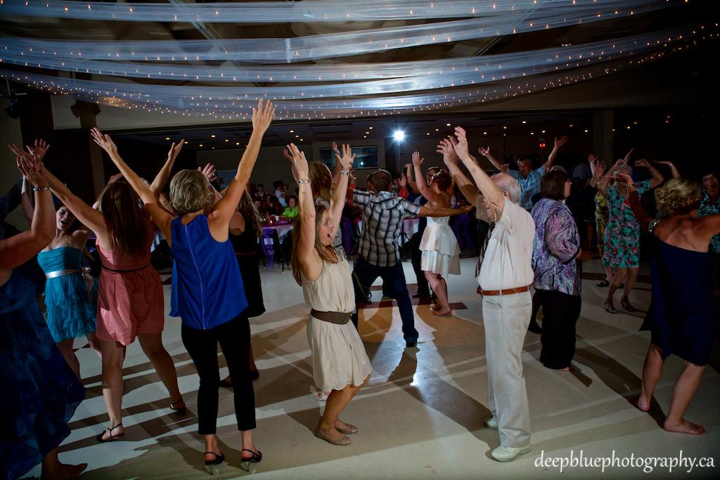 Memorial Centre Dance Tara and Tyler Wedding