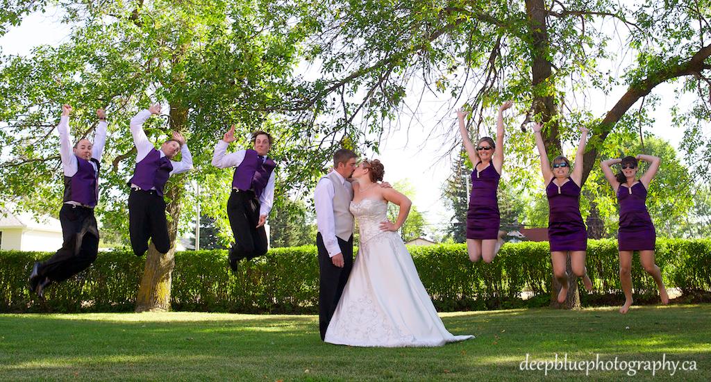 Photo of Tyler and Taras Wedding Party Having Fun