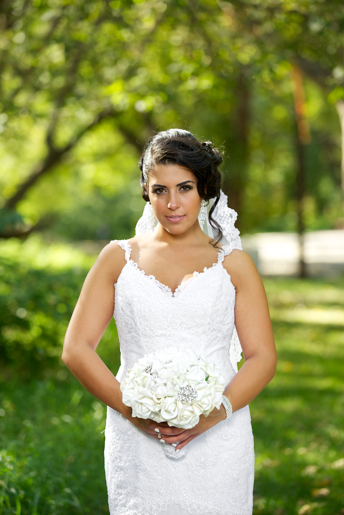 Bridal Portrait with Bouquet