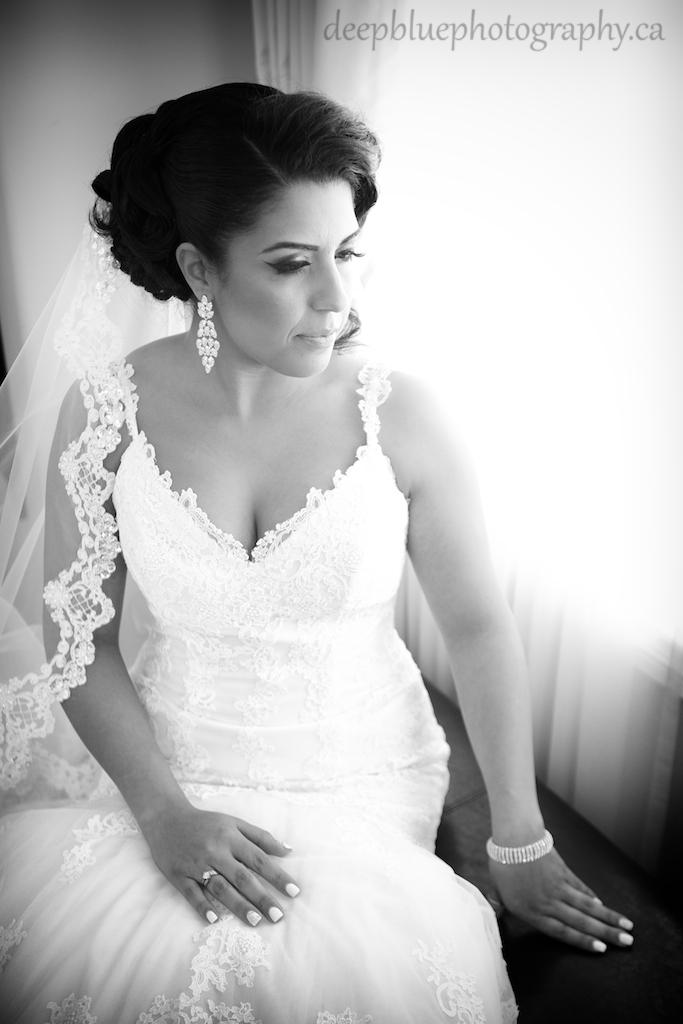 Portrait of Bride Waiting for Groom