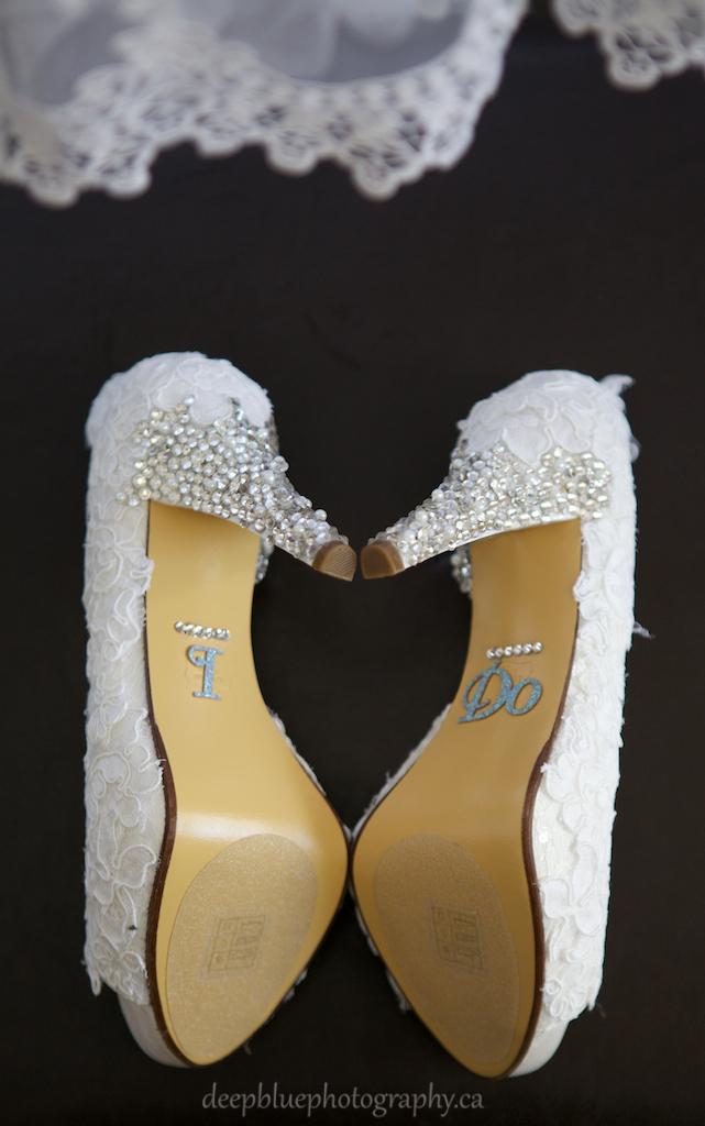 Bride's Shoes Say I Do From A Lebanese Wedding Edmonton