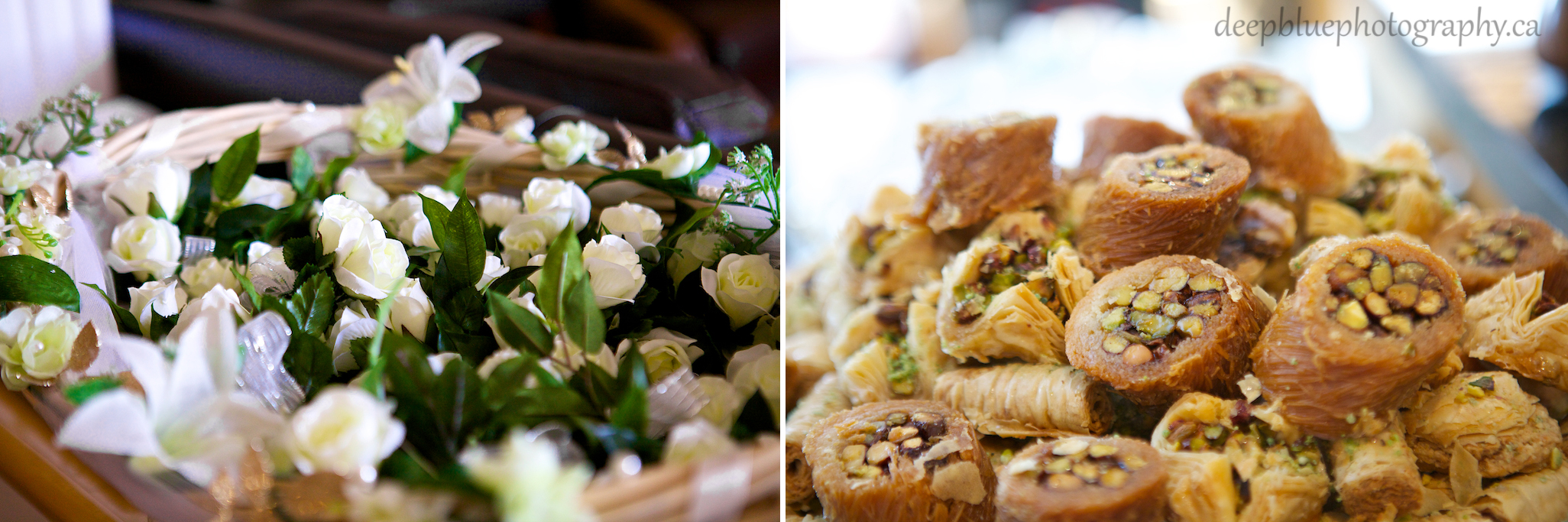 Detail Photo of Food and Flowers