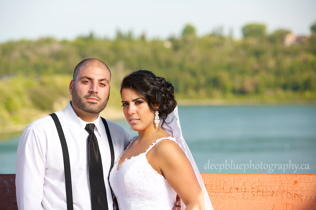 River Valley Wedding Portrait of Danielle and Faisal