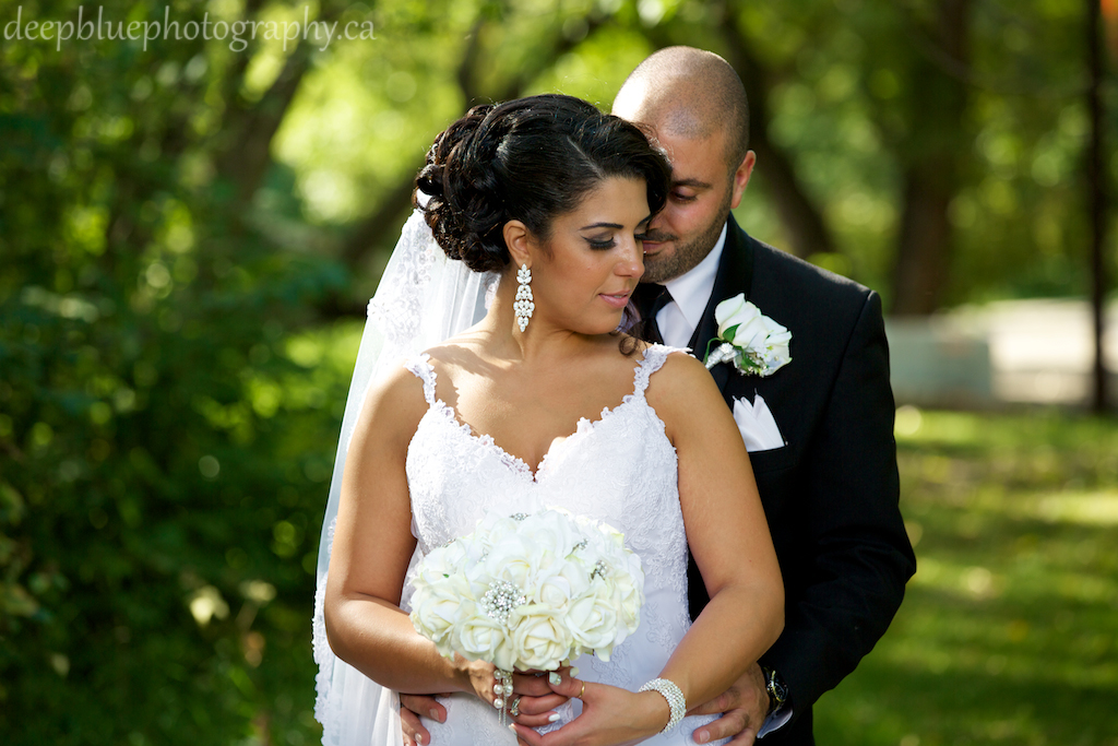 Romantic Wedding Portrait of Danielle and Faisal From Their Lebanese Wedding Edmonton