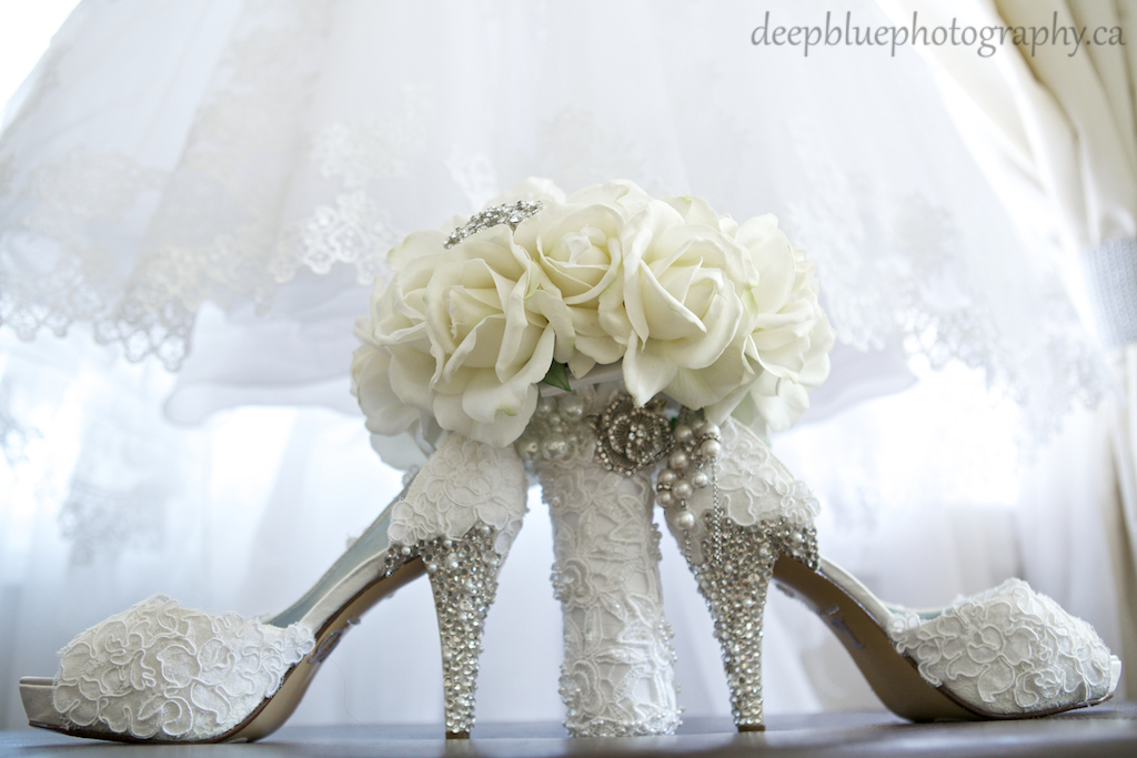 Danielle's Custom Shoes and Bouquet Lebanese Wedding Edmonton