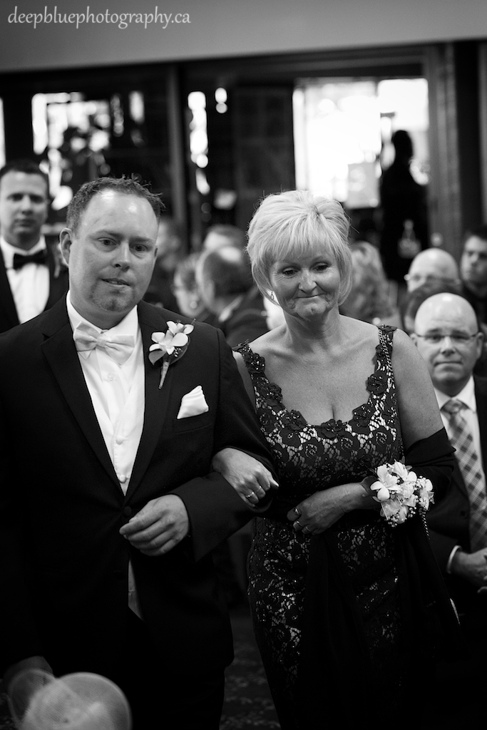 Brad and His Mother Entering the Ceremony