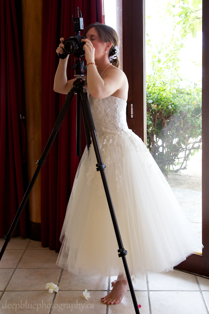 Photo of Bride Photographing Own Wedding