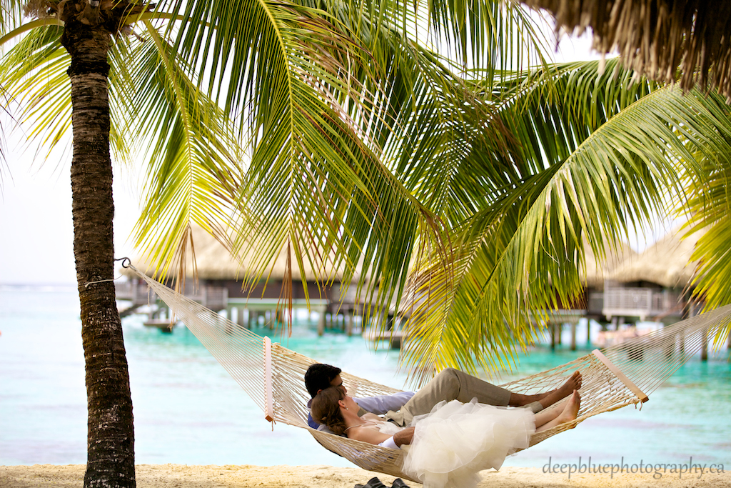 Hilton Moorea Hammock Wedding Picture from A Destination Wedding Tahiti - Sunny & Jess