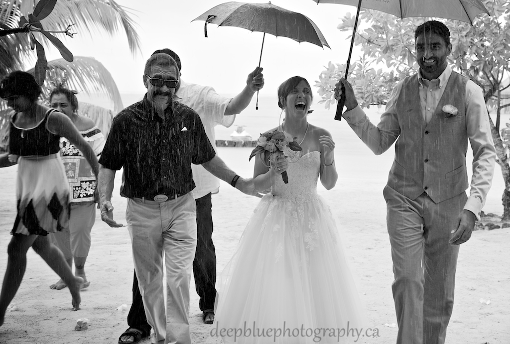 Destination Wedding in the Rain