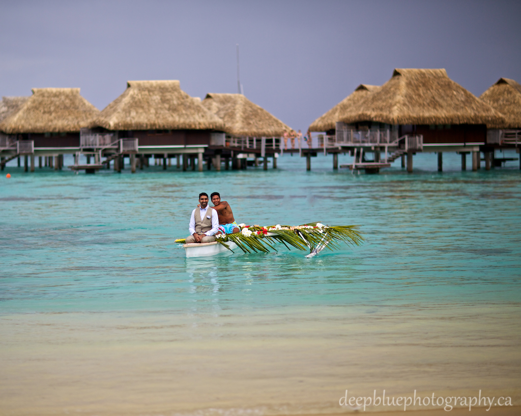 Destination Wedding Tahiti Photo of Groom Arriving at Ceremony
