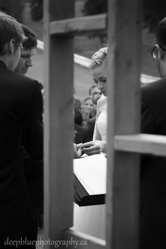 Photo of Bride and Groom Ring Exchange