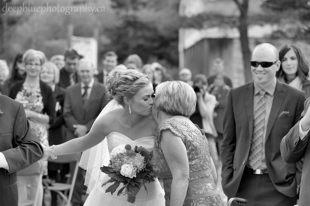 Photo of Bride and Mother at Ceremony