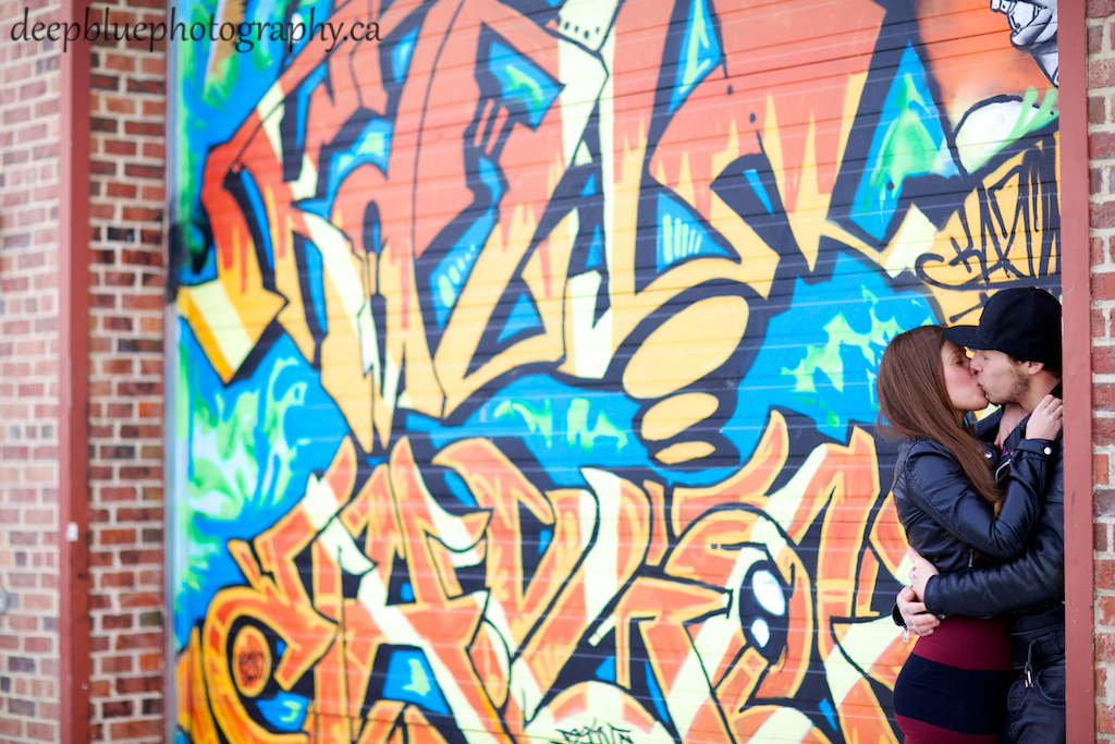 Graffiti Old Strathcona Engagement Photos Edmonton