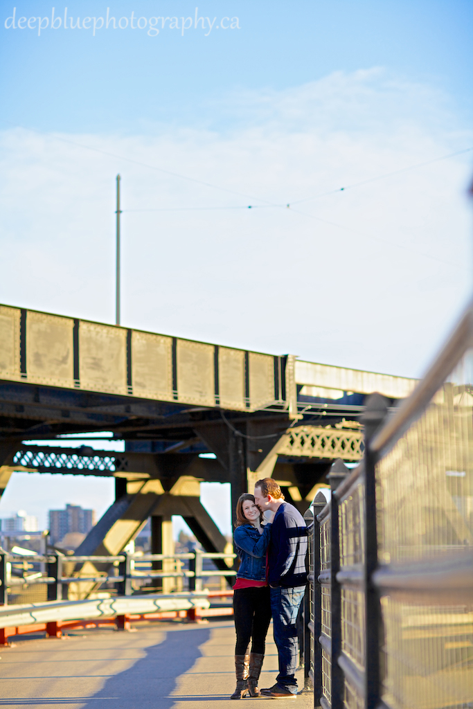 High Level Bridge Engagement Photos By Deep Blue Photography